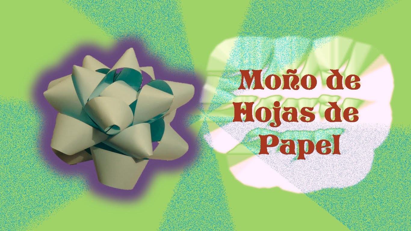 DIY | Moño Estrella hecho de Hojas de papel