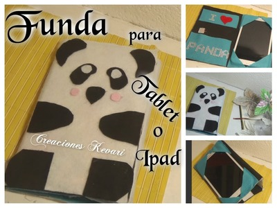 Funda para Tablet o Ipad Celular móvil Carcasa de Panda DIY Material Reciclado.iPad Case