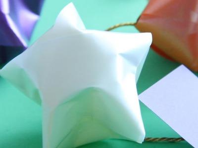 Hacer Estrellas con mensaje para Navidad