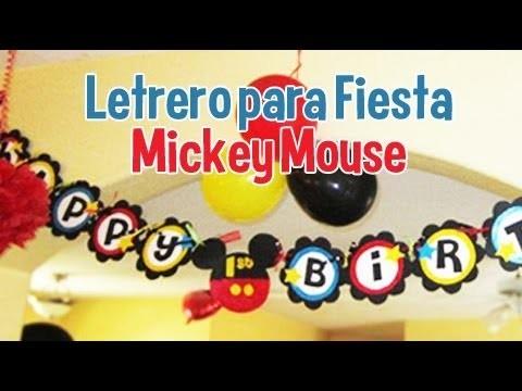 Letrero de Cumpleaños de Mickey Mouse
