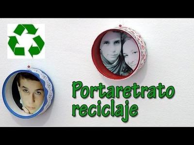 Manualidades de reciclaje - Portaretratos circular - Manualidades para todos