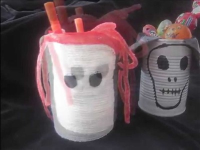 Manualidades halloween para niños con material reciclado