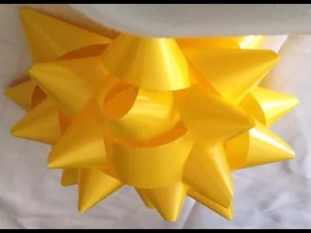 Manualidades Moño en forma de estrella, muy fácil y rápido