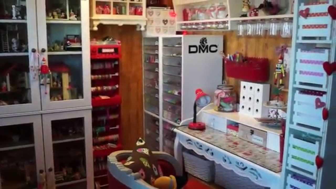 My craft room tour - sewing tour -mi rincón de manualidades