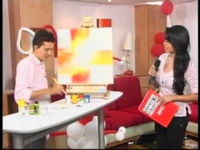 Tallando talentos pintando cuadro decorativo 2012 en Tu Kanal