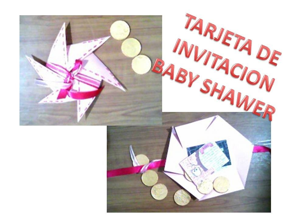 Tarjeta invitacion baby shawer o bautizo