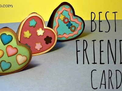 Tarjeta para San Valentin, Día del Amor y de la Amistad, Best Friends Card, Valentine's Day
