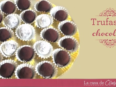 Trufas de chocolate DIY Chocolate truffles