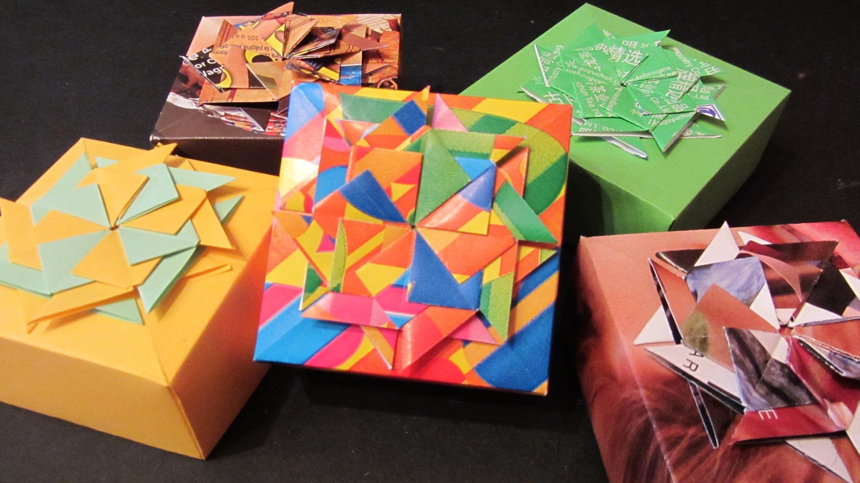 Tutorial: Cajitas decoradas. Boxes made of magazines.
