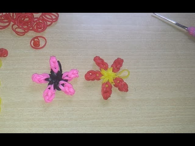 ♥ Tutorial: flor hecha de gomitas (sin telar) ♥