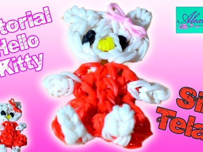 ♥ Tutorial: Hello Kitty de gomitas (sin telar) ♥