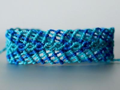 Tutoríal pulsera macramé ancha  | bracelet macramé
