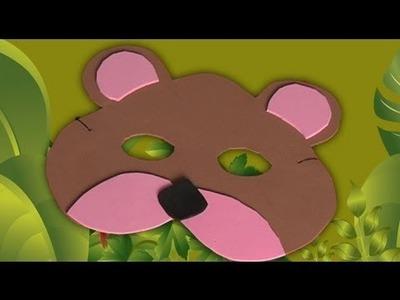 Antifaz de oso, manualidades disfraz de carnaval
