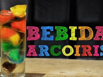 Bebida arcoiris!!! Decora tus bebidas muy original | Bebidas preparadas y hielos con fruta, cafe