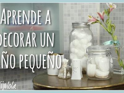 ¡Aprende a decorar un baño pequeño! | Annie Barrios