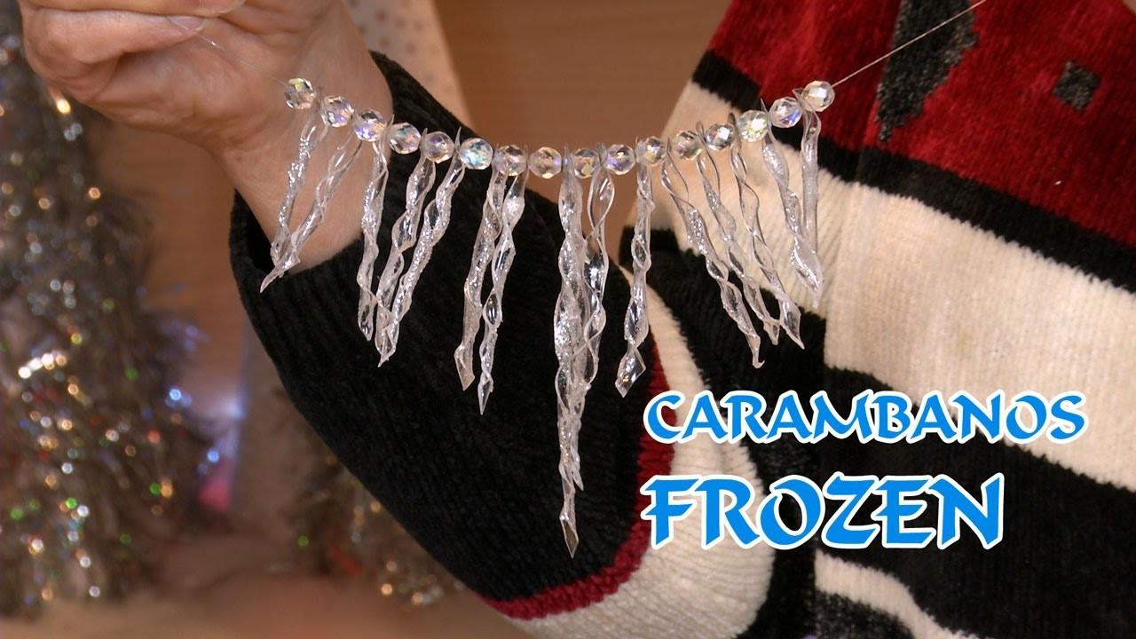 Carambanos y Collar Frozen y Decoracion Arbol Navidad PET