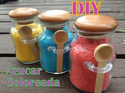 Como colorear azúcar para repostería