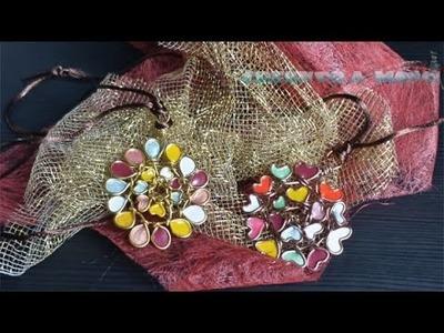 Como hacer collares para regalar con alambre y esmaltes
