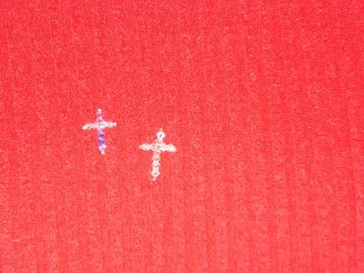 Cómo hacer una cruz con cristales o chaquiras.