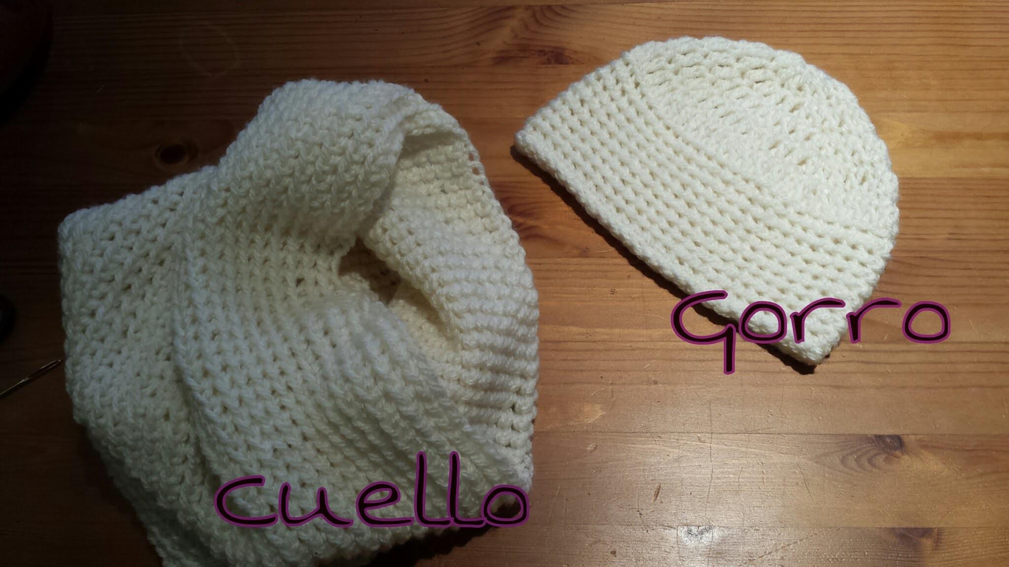 Cuello de Tubo y Gorro a juego. Tube nek Unisex hat game.(English Subtitles)