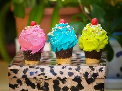 Cupcakes Sorpresa en Conos de Helado