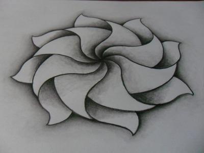 Dibujo, creatividad, formas y efectos. DIBUJO DE MANDALA: lápiz, difuminador.Como dibujar muy fácil.