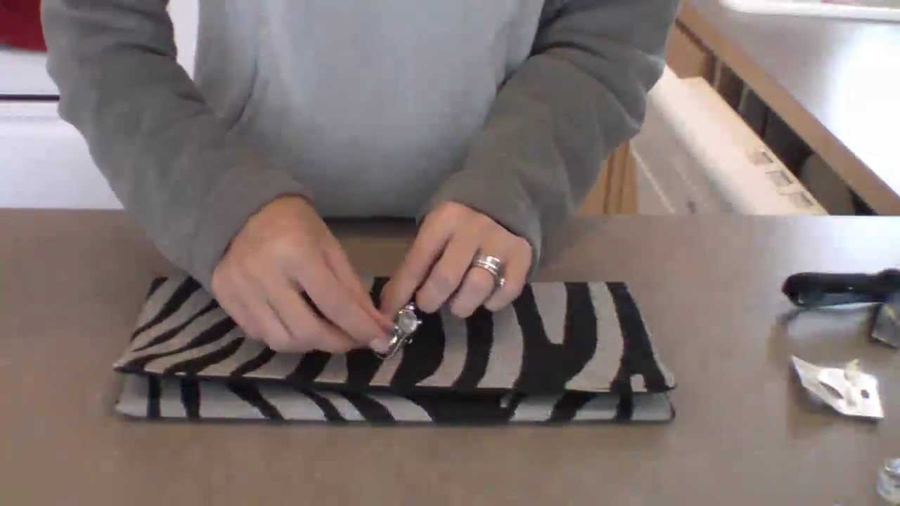 DIY bolsa en forma de sobre