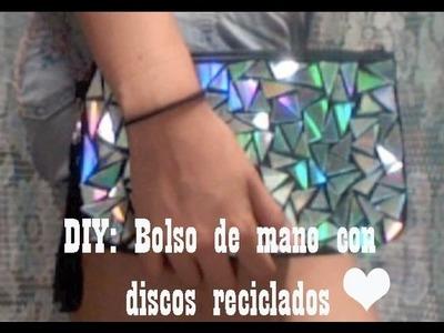 DIY♥ Bolso de mano con discos (Super facil)