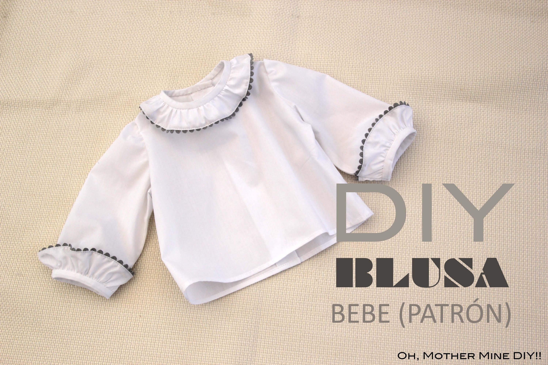 DIY Costura de blusa para bebe (patrón gratis)