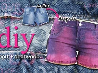 DIY: Transforma tus Jeans a Short + Desteñido y Desfiar a barra
