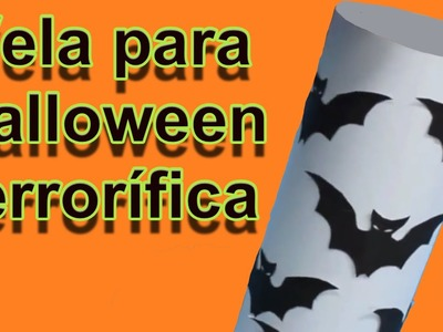 Ideas Halloween: vela de murcielagos