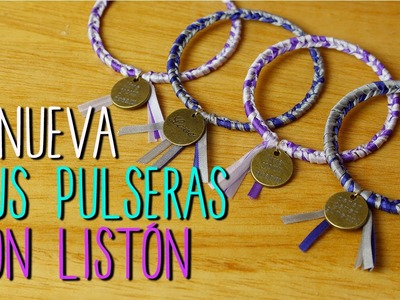 Pulseras de Listón Fáciles - Renueva tus pulseras - DIY Pulseras Tejidas