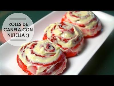 ROLES DE CANELA C.NUTELA! (rojos) ♥