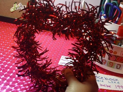 SAN VALENTIN:colgante de corazon con letrero