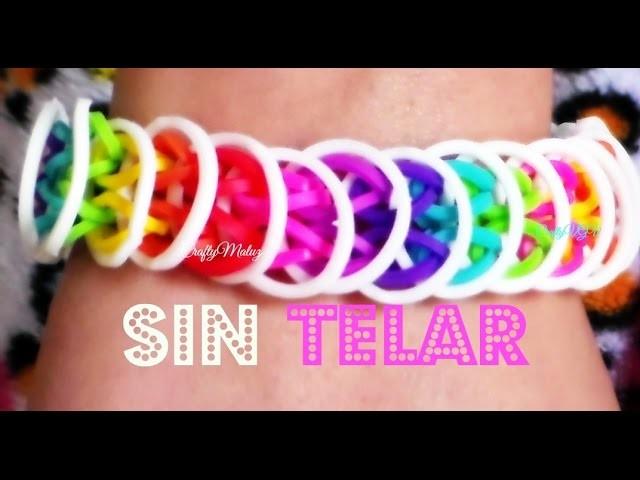 ♥ Tutorial: Pulsera Loose Loops (sin telar) Loose loop bracelet without the loom