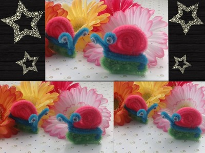 CARACOL HECHO  CON LIMPIA PIPAS.- PIPE CLEANERS SNAIL .
