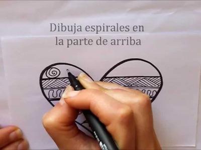 Cómo dibujar un Corazón con Dibujos Étnicos Dibuja Conmigo Dibujos de Amor