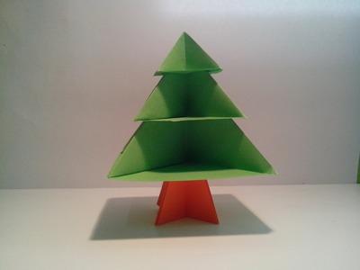Como hacer un árbol de papel sin pegamento (decoración navideña)
