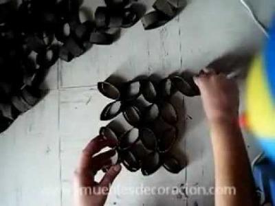 Decoración: Adornos reciclando rollos de papel higiénico