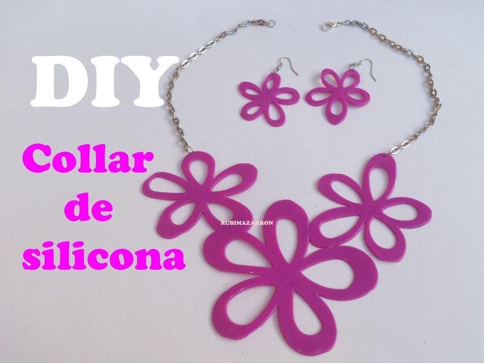 DIY Collar de silicona fucsia