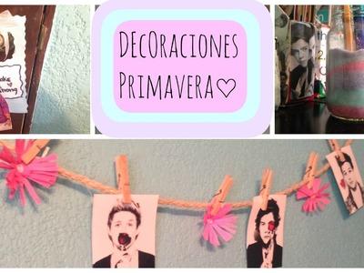 DIY -Decoraciones para tu cuarto de Primavera ♡