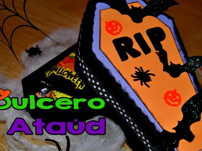 DIY : Dulcero Ataúd Halloween. Treat Box Halloween
