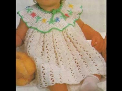 Instrucciones Como Tejer Vestidito Para Bebé a ganchillo