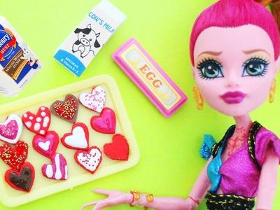 Manualidades para muñecas:Cómo hacer galletas en forma de corazón para muñecas