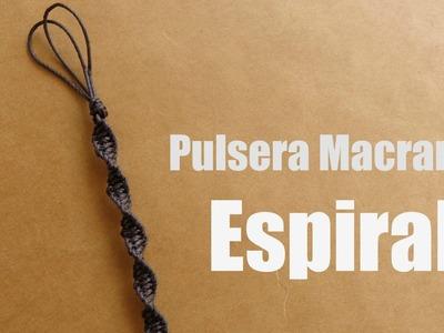 Pulsera Macrame: Espiral. Pulseras de hilo
