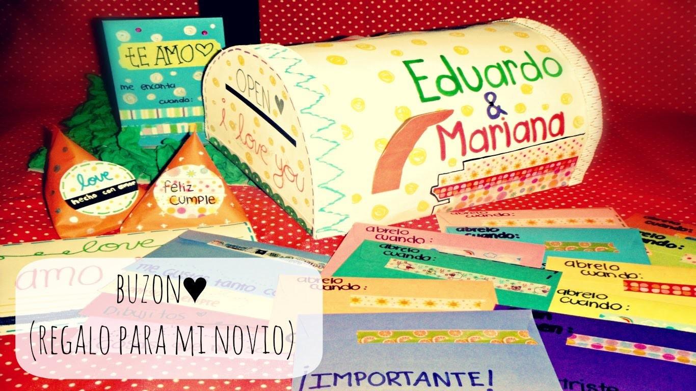 Regalo de cumpleaños GORDO♥ -BUZON Y CARTAS 'ABRELO CUANDO' [Birthday gift]