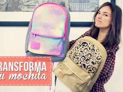 Transforma tu mochila, rápido y fácil!