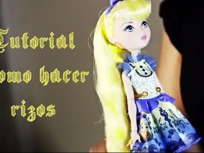 TUTORIAL: Como hacer rizos para muñecas