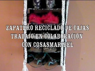 ZAPATERO RECICLADO DE CAJA DE FRUTA, COLABORACION CON COSASMARIBEL