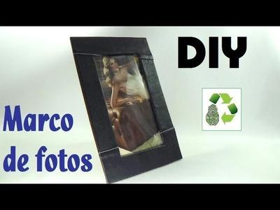160. DIY MARCO PARA FOTOS (RECICLAJE DE BOLSOS VIEJOS)